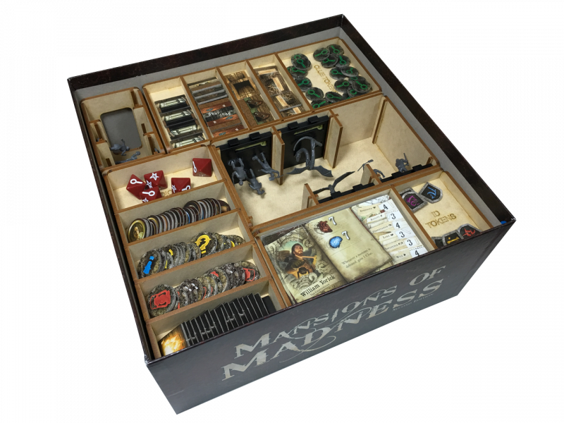 Storage solution for mansions of madness go7gaming for Board game storage solutions