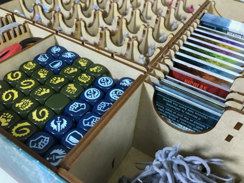 Go7gaming board game chests game box inserts deluxe for Board game storage solutions